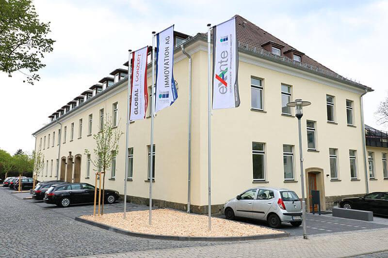 Firmengebäude der ex ante GmbH für Gebäudemanagement und Hausverwaltung in Kassel